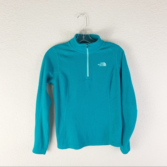 The North Face Sweaters - The North Face Pullover 1/4 Zip Fleece Jacket teal